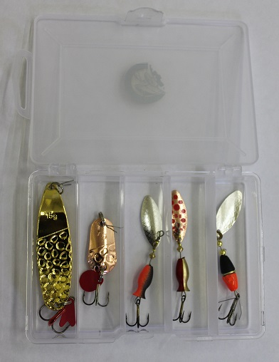 Продажа товаров для рыбалки - набор блесен